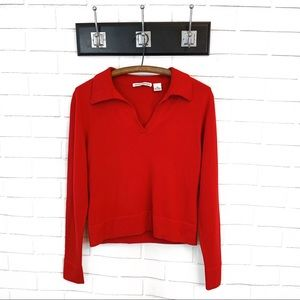 Autumn Cashmere • Red Pullover Sweater